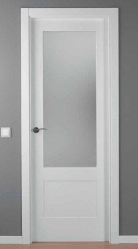 Puerta lacada blanca modelo lac 5102 1v - Puertas blancas de interior ...