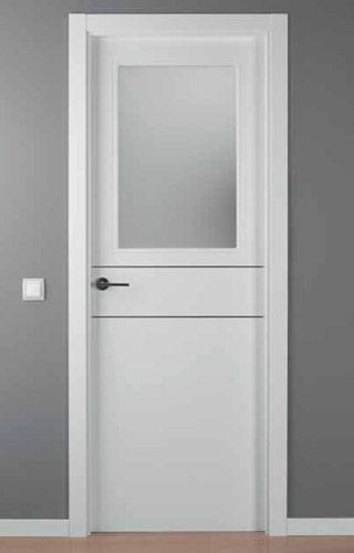 Puerta lacada blanca modelo lac alho 2 1v for Puerta lacada blanca