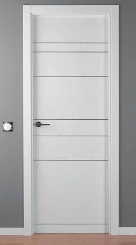 Puerta lacada blanca modelo lac alho 7 for Puerta lacada blanca