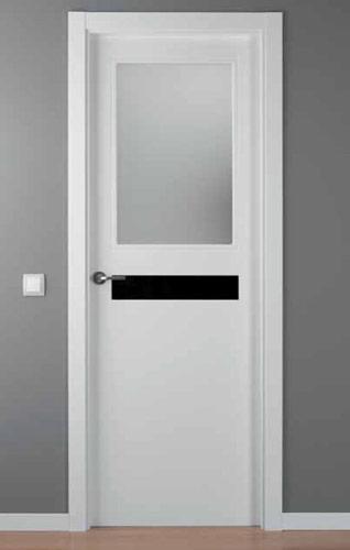 Puerta lacada blanca modelo lac crisho 1 1v for Puerta lacada blanca