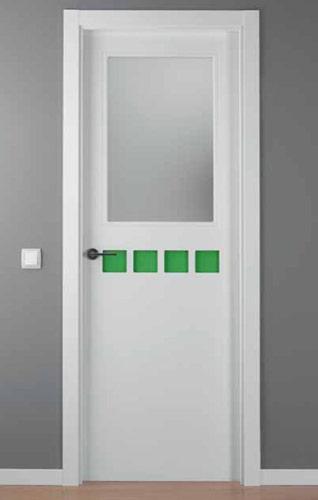 Puerta lacada blanca modelo lac crisho 4 1v for Puerta lacada blanca
