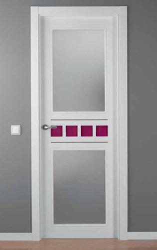 Puerta lacada blanca modelo lac crisho 4 2v alho2 for Puerta lacada blanca