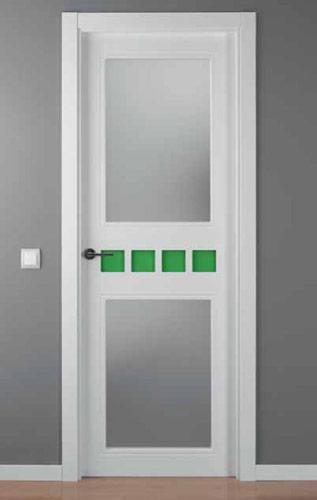 Puerta lacada blanca modelo lac crisho 4 2v for Puerta lacada blanca