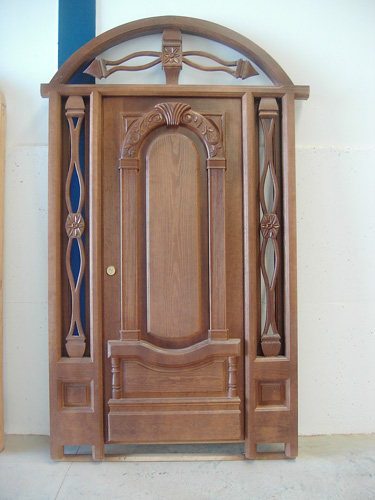 Puertas modernas de exterior puertas de madera para for Puertas de madera blancas para exterior