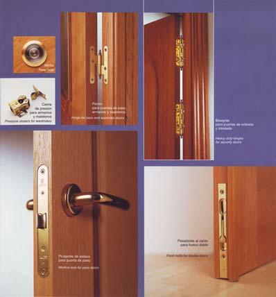 Herrajes para puertas de interior