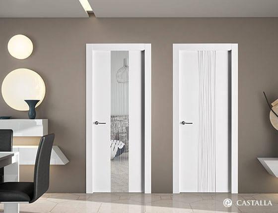 Puerta castalla blanca modelo quevedo puertas innova s l u puerta interior marca castalla - Puertas blancas modernas para interior ...