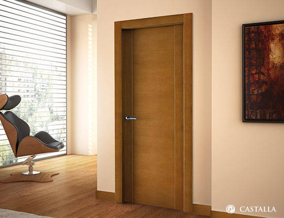 Puerta interior marca castalla modelo palma exclusive for Puertas interiores antiguas madera