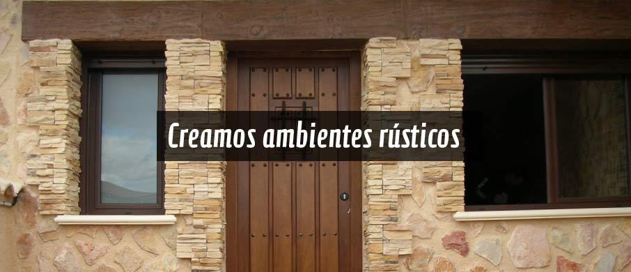 puertas rústicas de interior