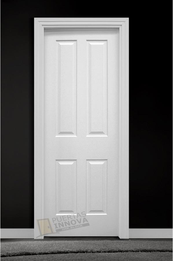 Puerta lacada blanca lac 114 puertas innova s l u for Puerta lacada blanca