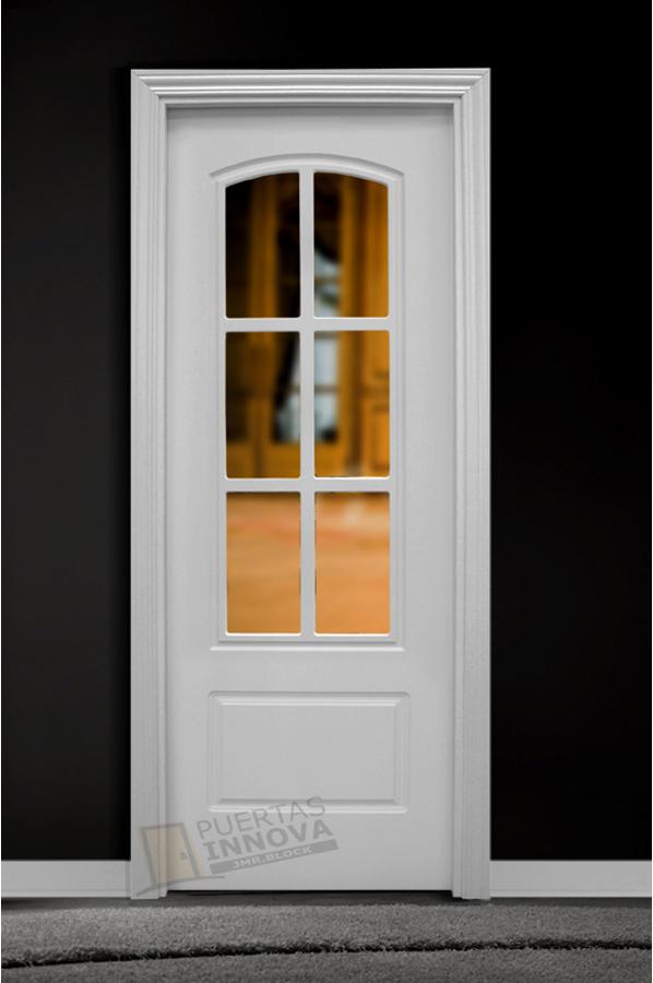 Puerta lacada blanca lac 1202 v6 puertas innova s l u for Puerta lacada blanca