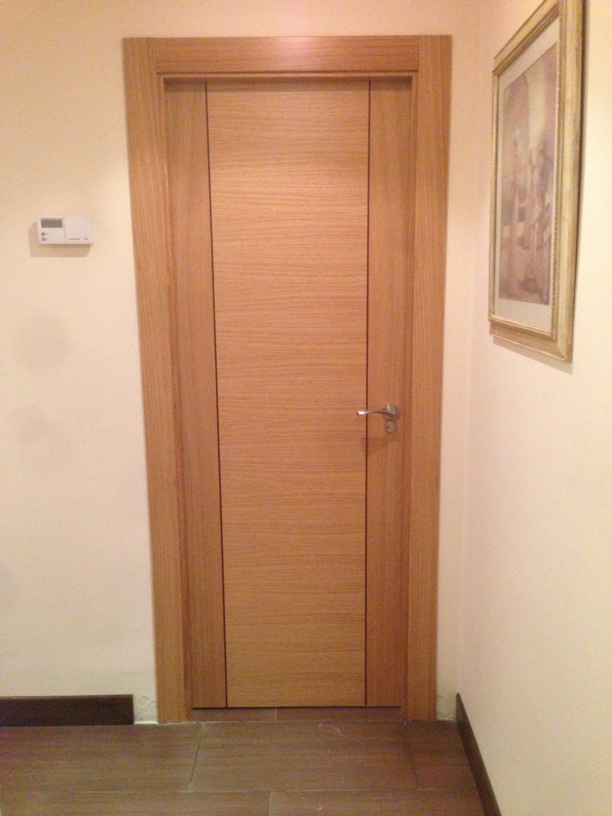 Puertas interior roble modernas greca oscura puertas - Puertas de roble ...