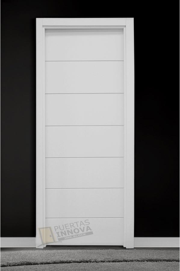 Puerta lacada blanca lac 9006 puertas innova s l u for Puerta lacada blanca