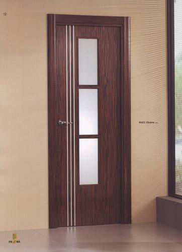 Puerta interior moderna madera 9603 ebano y aluminio for Puertas interiores de aluminio y cristal