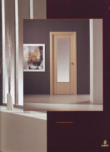 Puerta interior moderna madera 7301 roble decape puertas for Puertas modernas interior