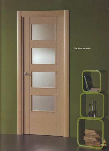Puerta interior moderna madera 7314 roble decape puertas - Puertas de paso rusticas ...