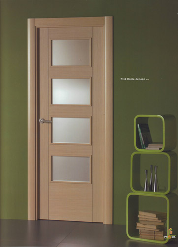 Puerta interior moderna madera 7314 roble decape puertas for Puertas interior modernas