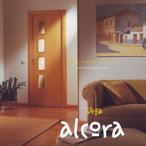 Puerta interior moderna madera m2 puertas innova s l u for Modelos de puertas de interior modernas