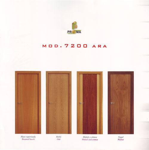 Puerta interior moderna madera m32 puertas innova s l u for Puertas interior modernas