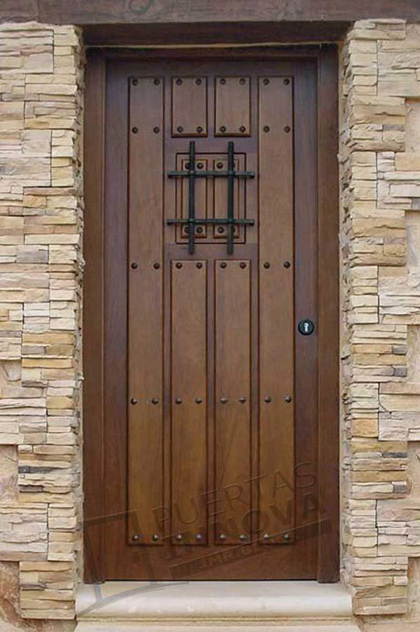Puerta exterior r stica modelo 2 puertas innova s l u for Puertas macizas exterior