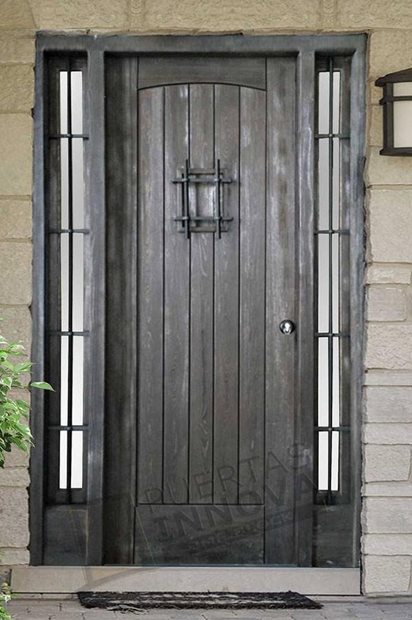 Puerta exterior r stica modelo 21 puertas innova s l u - Puerta rustica exterior ...