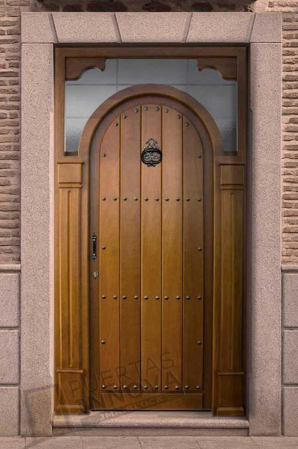 Puerta exterior r stica modelo r 9 puertas innova s l u for Puertas macizas exterior