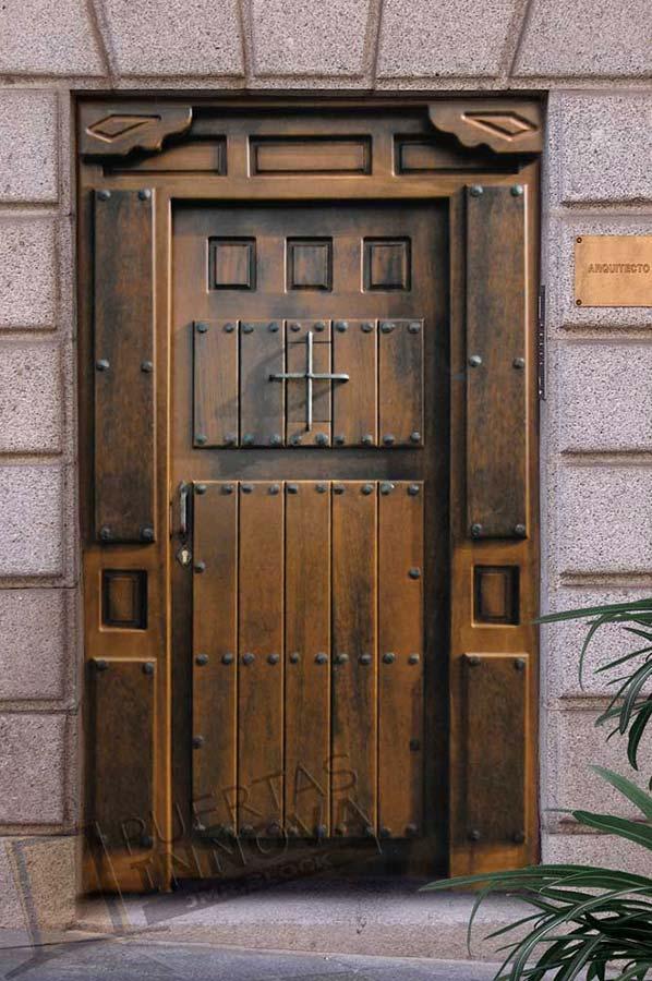 Puerta exterior r stica modelo r 6 puertas innova s l u for Puertas macizas exterior