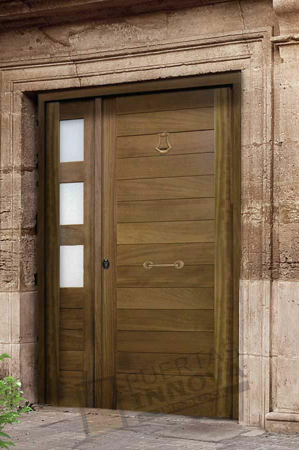 Puerta exterior moderna m1 puertas innova s l u - Puertas exterior asturias ...