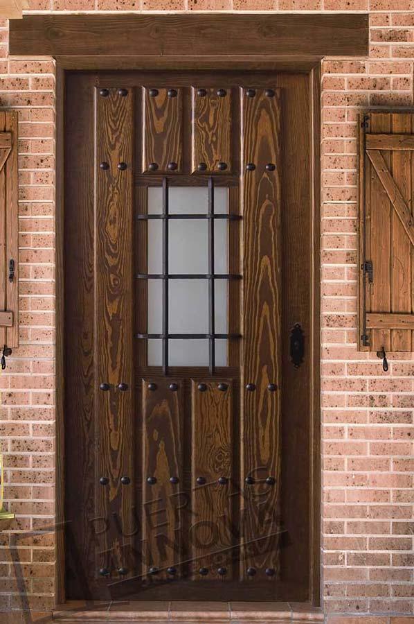 Puerta exterior r stica modelo 1v1 puertas innova s l u for Puertas macizas exterior