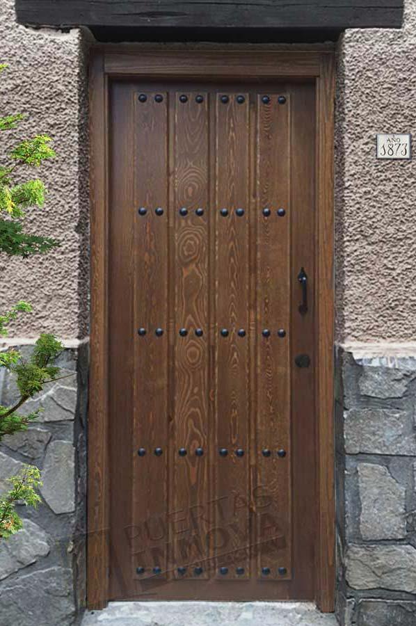 Puerta exterior r stica modelo 1 puertas innova s l u - Puerta rustica exterior ...