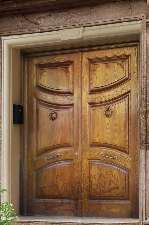 Puerta exterior clasica 25 puertas innova s l u - Puertas exterior asturias ...