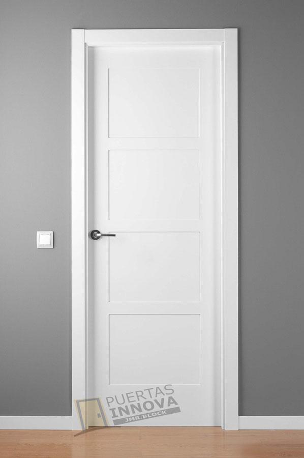 Puerta lacada blanca lac 5104 puertas innova s l u for Puerta lacada blanca