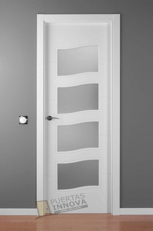 Puerta lacada blanca lac 9004 c v4 puertas innova s l u - Puerta lacada blanca ...
