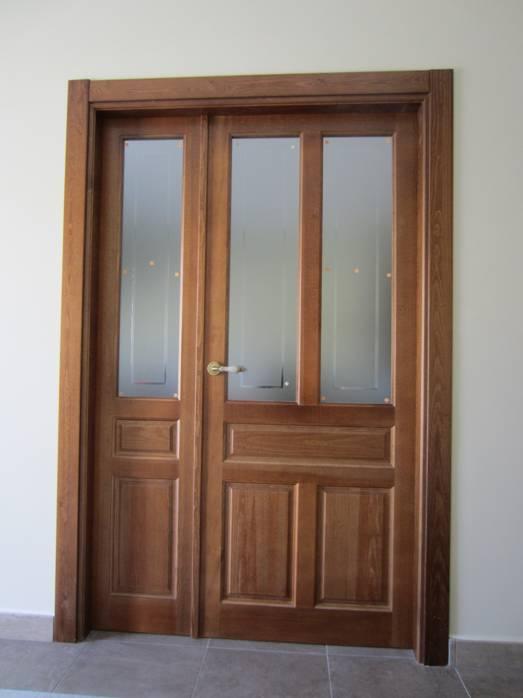 Puerta interior r stica mod 5c puertas innova s l u - Manillas puertas rusticas ...