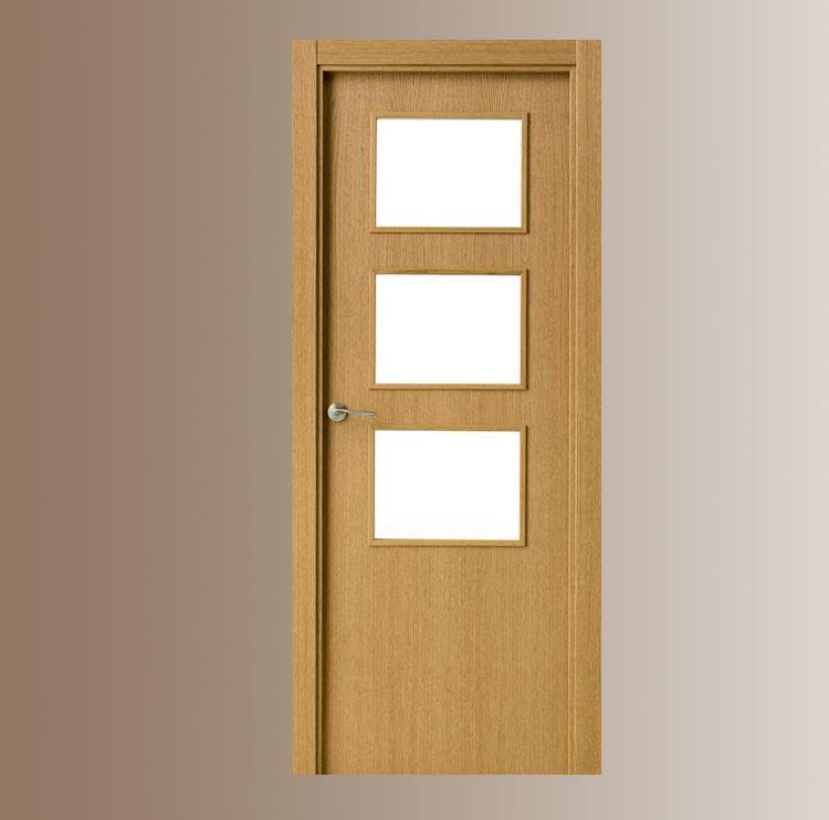 Puerta interior moderna v3 cristal puertas for Puertas cristal interior casa