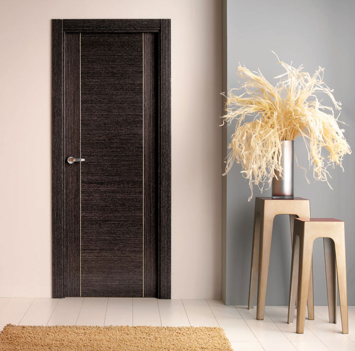 Puerta interior moderna precio base roble o haya for Modelos de puertas para interiores