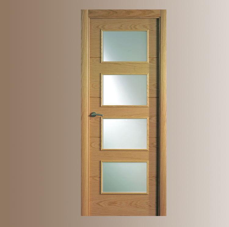 Puerta interior moderna v4 cristal puertas for Catalogo de puertas de madera modernas