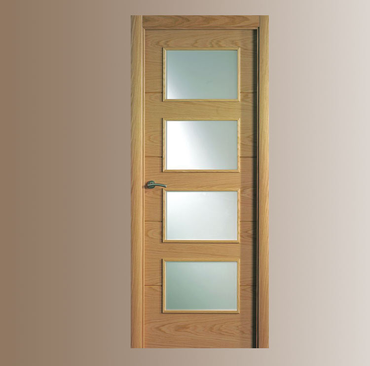 Puerta interior moderna v4 cristal puertas for Modelos de puertas de madera para interiores