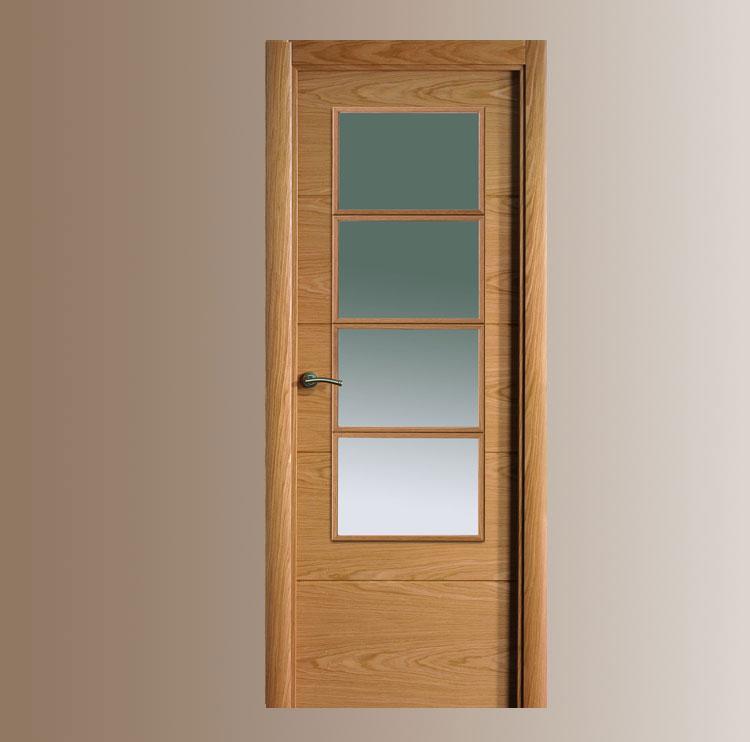 puerta interior moderna cristal puertas innova