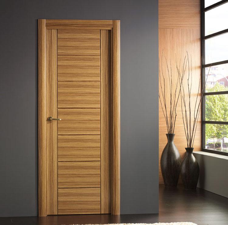 Puerta interior moderna precio base roble o haya for Puertas de roble para interior