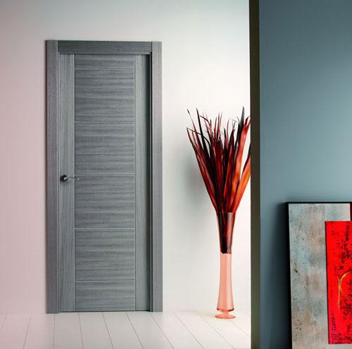 Puerta interior moderna precio base roble o haya for Puerta interior gris