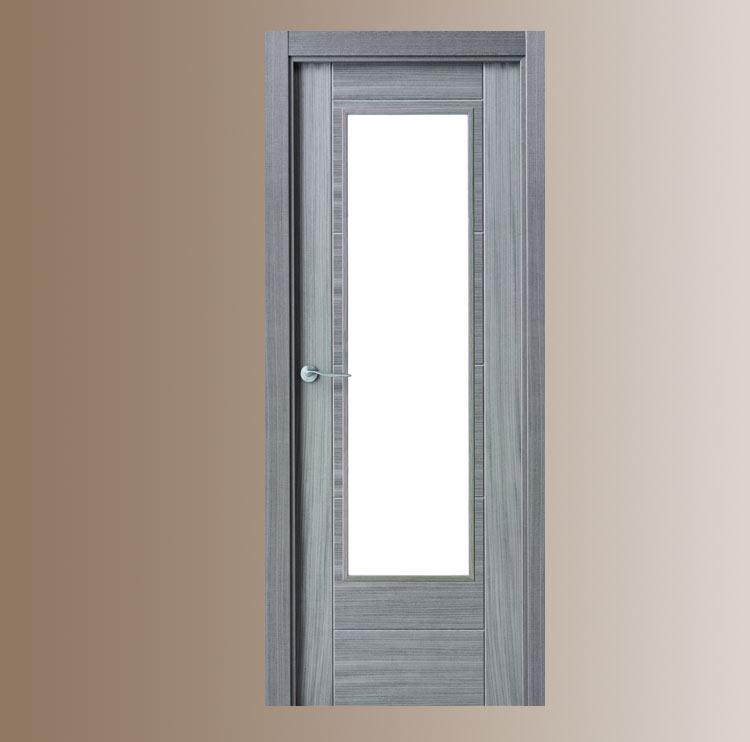 Puerta interior moderna v1 cristal puertas - Puertas interior cristal ...