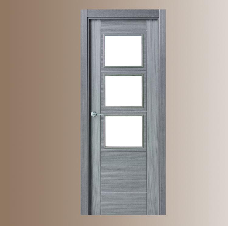 Puerta interior moderna v3 cristal puertas innova s l u Puertas modernas interior