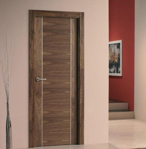 Puerta interior moderna aluminio precio base Precio puertas de paso