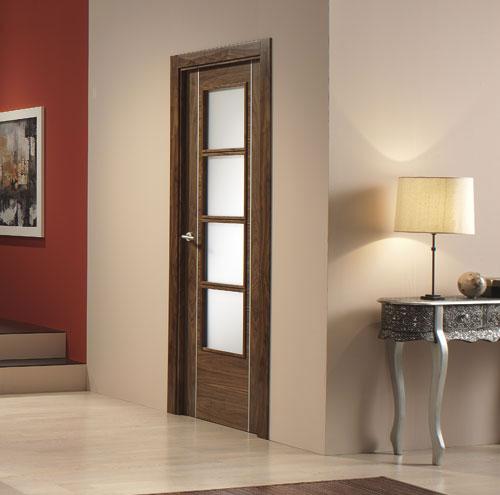puerta interior moderna v4 cristal aluminio ForPuertas Aluminio Interior Cristal