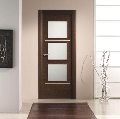 Puerta interior moderna v3 cristal aluminio puertas innova s l u - Puertas cristal interior ...
