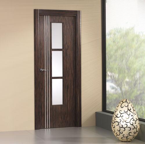 Puerta interior moderna v3 cristal aluminio for Puertas aluminio interior cristal