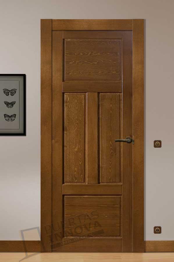 Puerta interior r stica modelo coru a puertas innova s l u - Puerta rustica interior ...