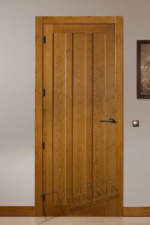 Puerta interior r stica modelo san martin puertas innova - Puertas rusticas interior ...