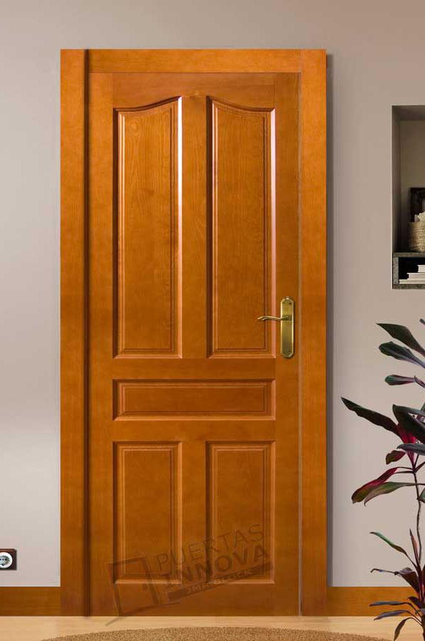 Puerta interior r stica modelo 5s puertas innova s l u for Modelos de puertas de madera para frente