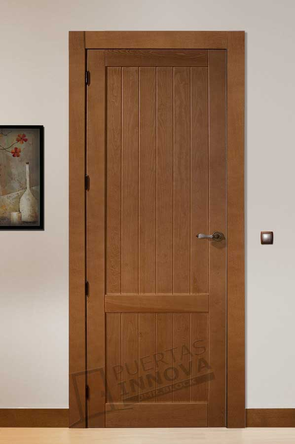 Puerta interior r stica modelo cuenca puertas innova s l u for Puertas rusticas de interior baratas